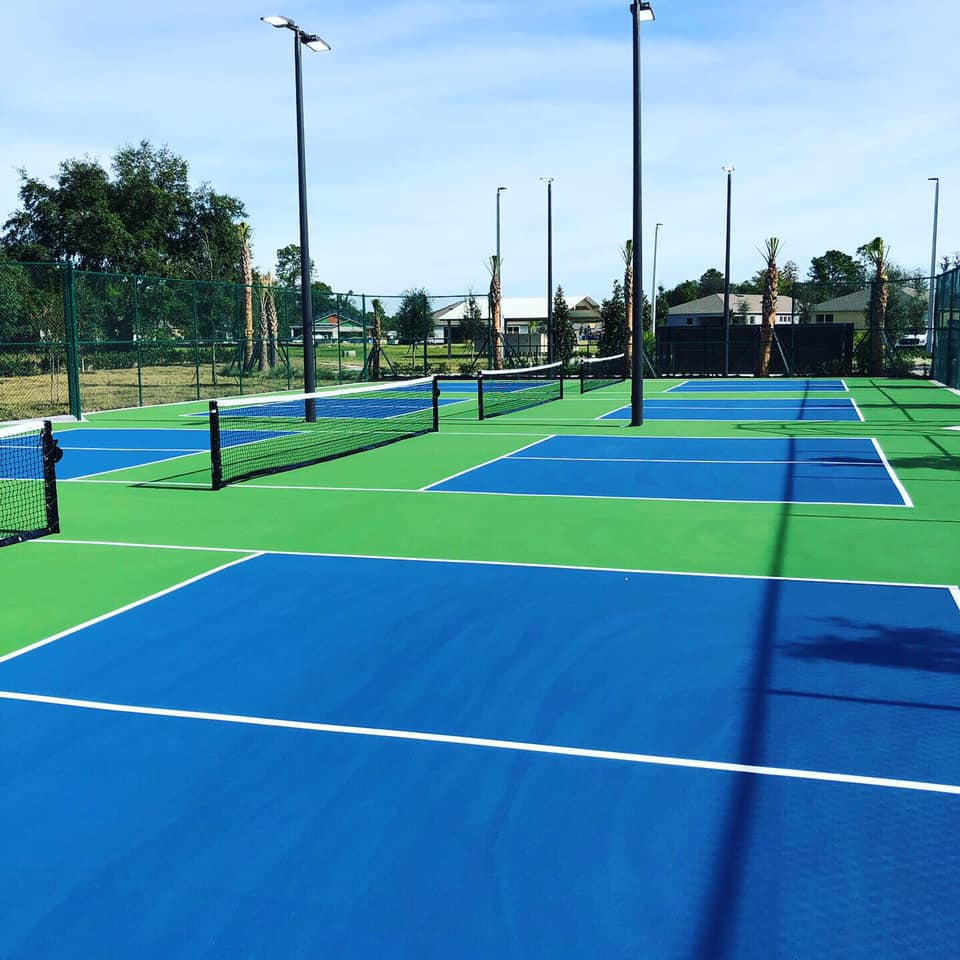 image of pickleball courts close up