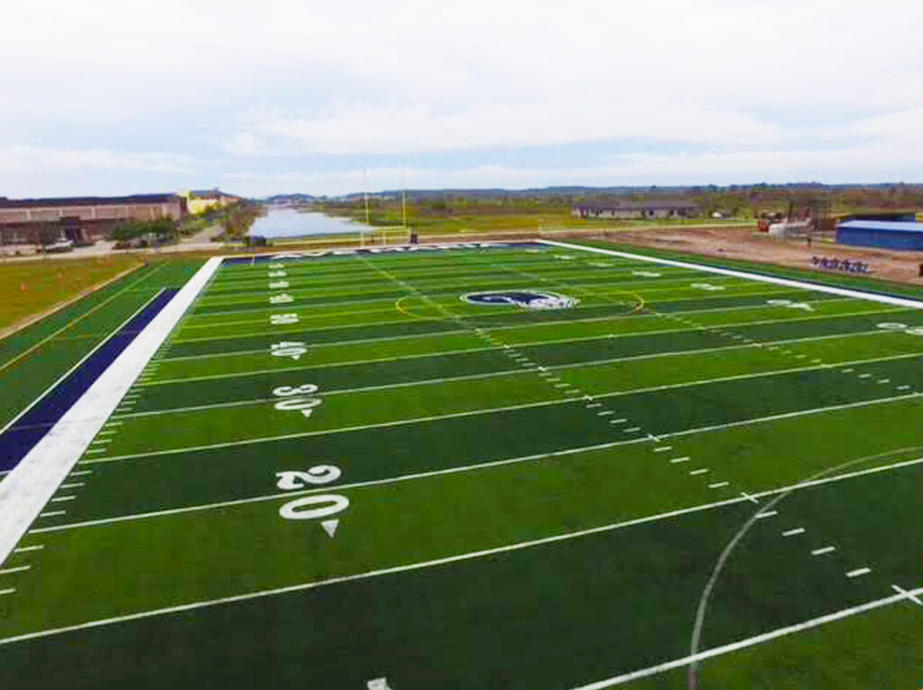 image of finished football field