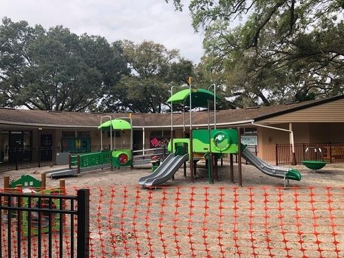 image of playground installation progress