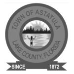 grayscale image of logo for Town of Astatula