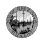 New Smyrna Beach logo grayscale