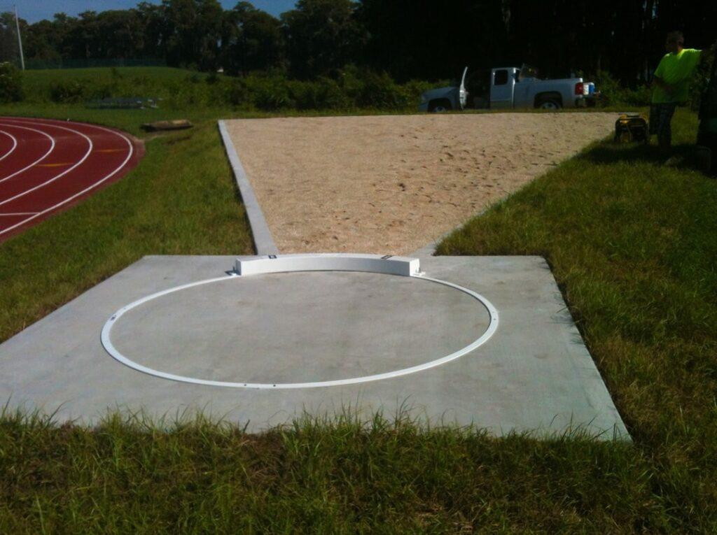 Calvary Christian school, shot put area - concrete and sand