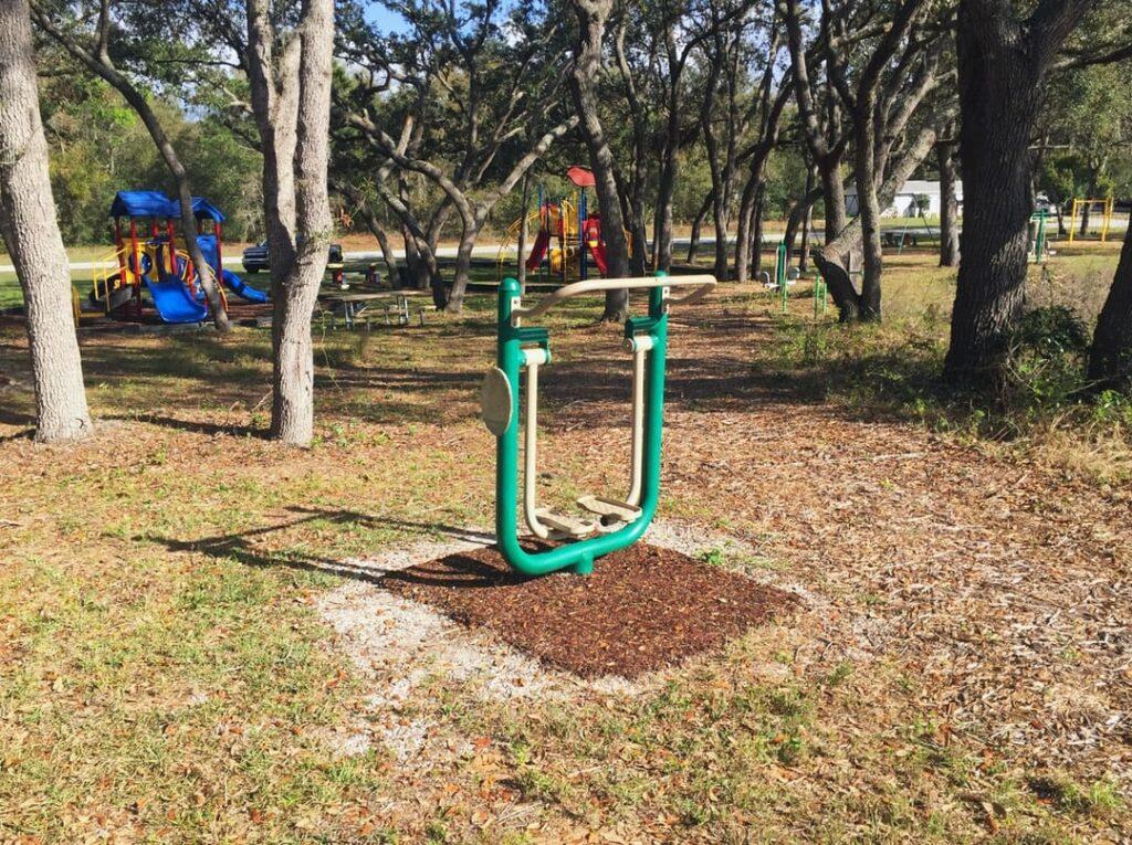 image of playground equipment after installation