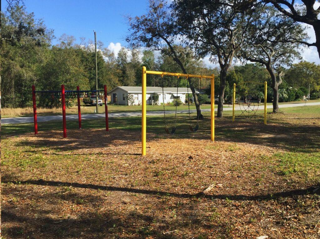 image of playground, yellow bars