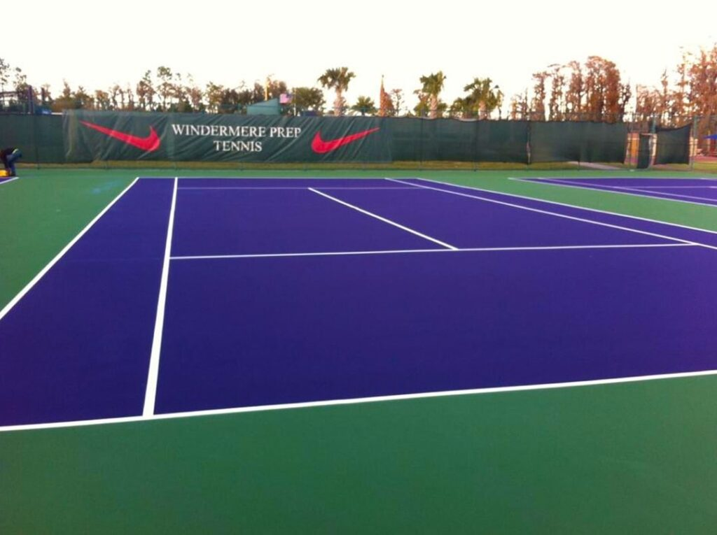 image of blue tennis courts