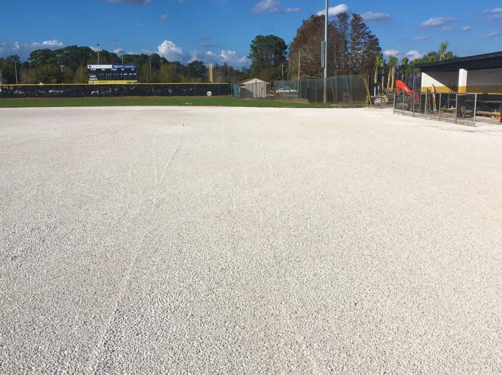 image of progress on turf baseball field