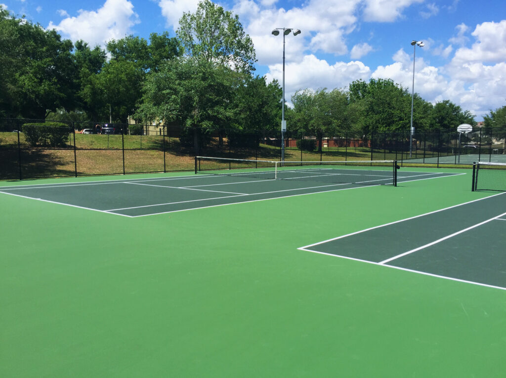 image of resurfaced tennis courts