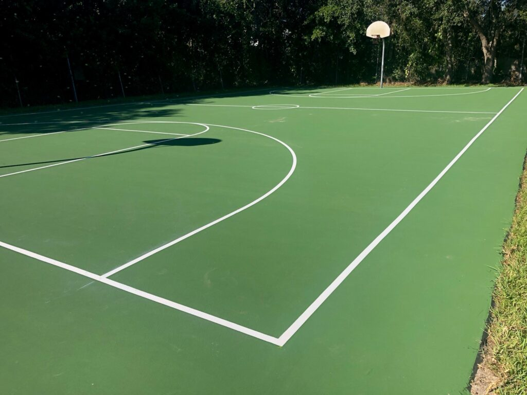 image of basketball court resurfacing for Marydia County Park