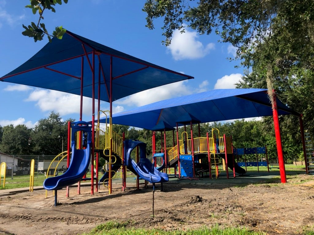 image of playground with shade structure