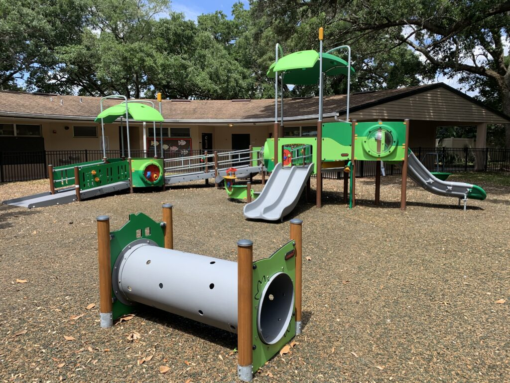 image of playground in an enclosed area