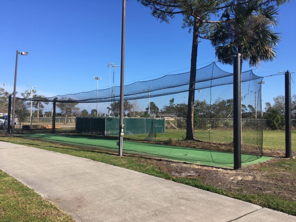 image of batting cages prior to being replaces