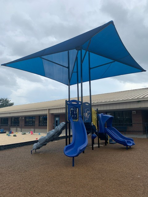 image of shade structure over playground