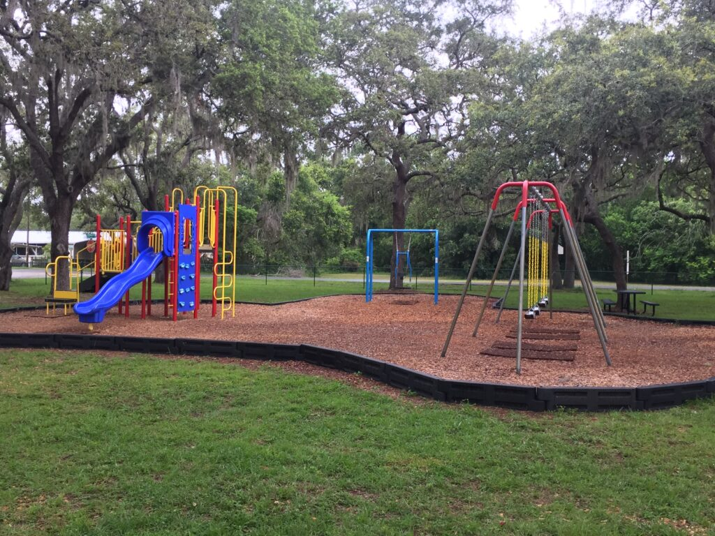 image of newly installed playground equipment at Astatula Park