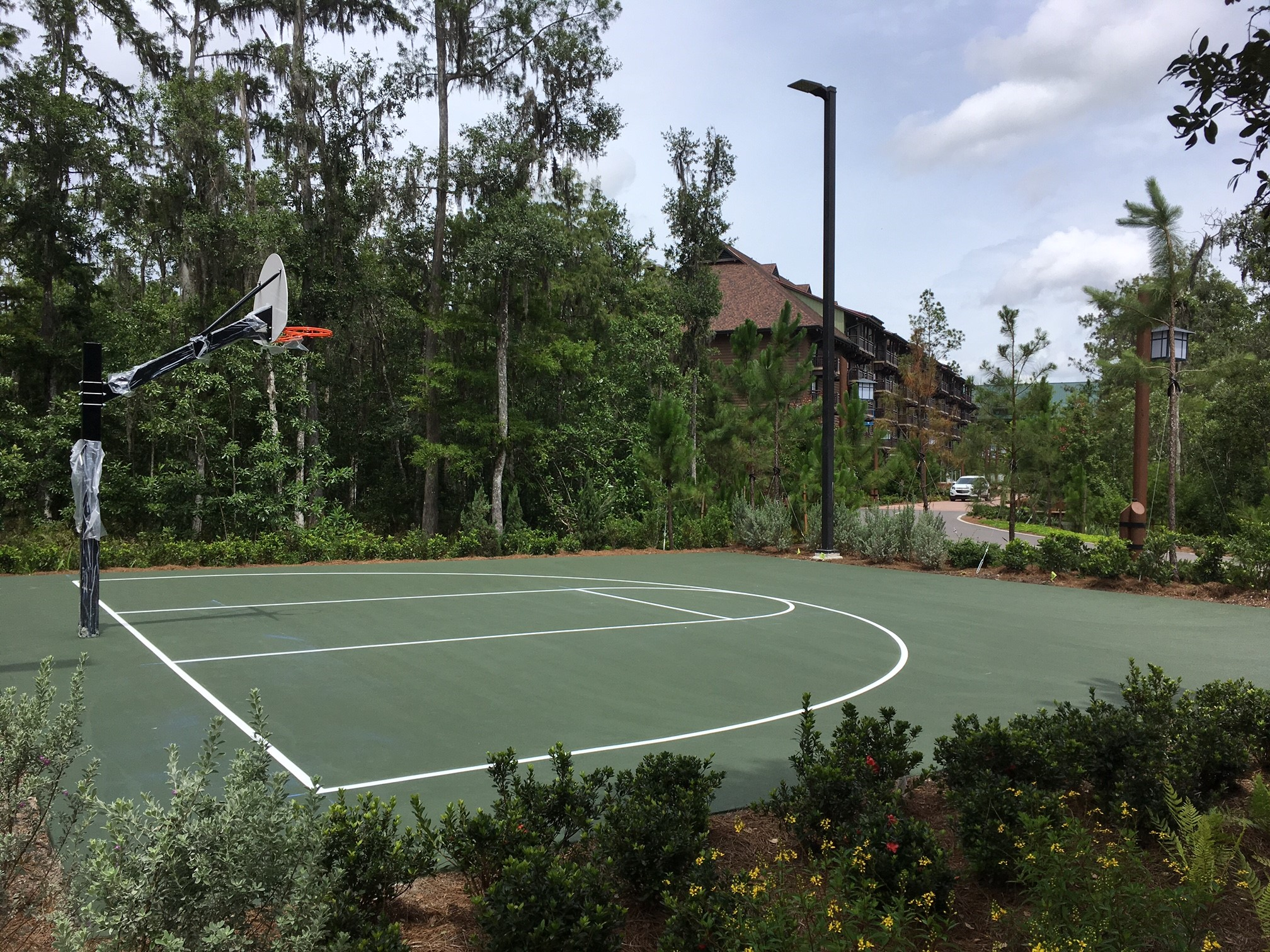 image of resurfaced basketball court