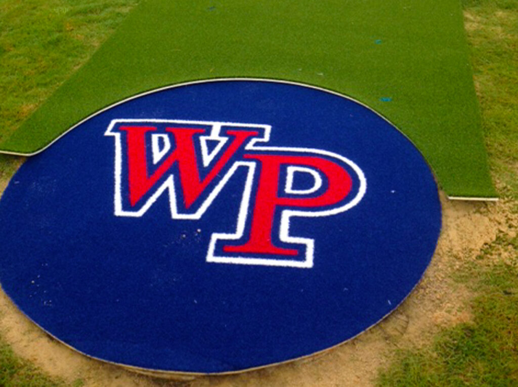 image of completed turf halo with logo for Windermere Preparatory School