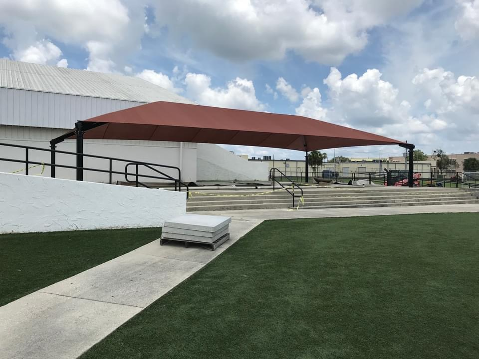 shade structure for XL Soccer World