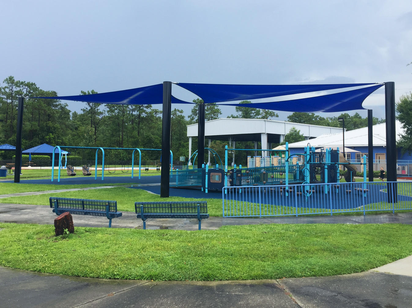 image of shade structure covering playground